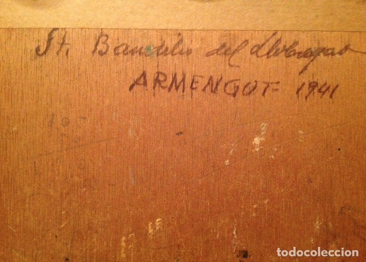Arte: Antiguo cuadro óleo del pintor Armengot Fecha 1941 - Foto 4 - 46432130