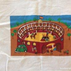 Arte: DOMINGO ÁNGULO PINTURA NAÏF SOBRE TELA ( FIRMADA ) PLAZA DE TOROS. Lote 178689302