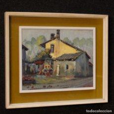 Arte: PINTURA AL ÓLEO SOBRE CARTÓN DE ESTILO IMPRESIONISTA DEL SIGLO XX. Lote 128488539