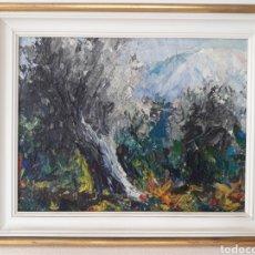 Arte: OLEO ANONIMO SOBRE TABLA IMPRESIONISTA.. Lote 128566398