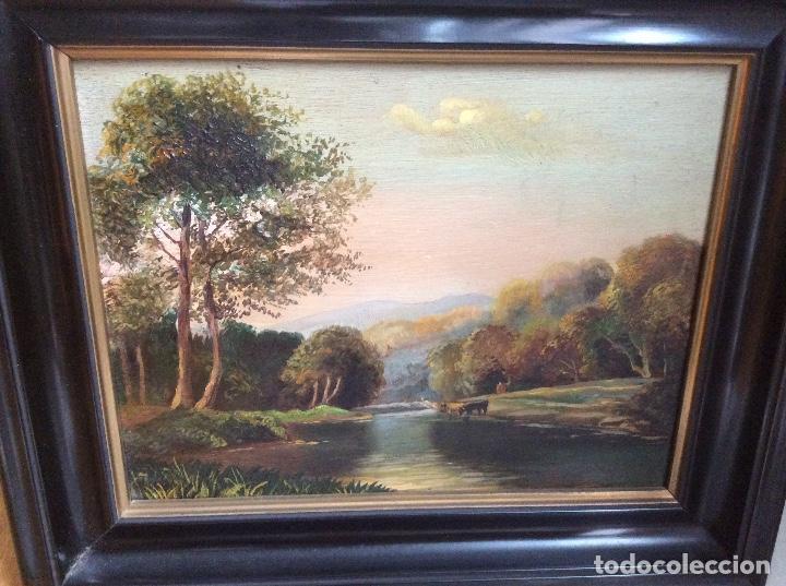 ÓLEO SOBRE TABLA PAISAJE (Arte - Pintura - Pintura al Óleo Moderna sin fecha definida)