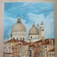 Arte: VENECIANO I. EL GRAN CANAL. LIENZO 55X33. ELIGE MARCO GRATIS A TU GUSTO.. Lote 128590715