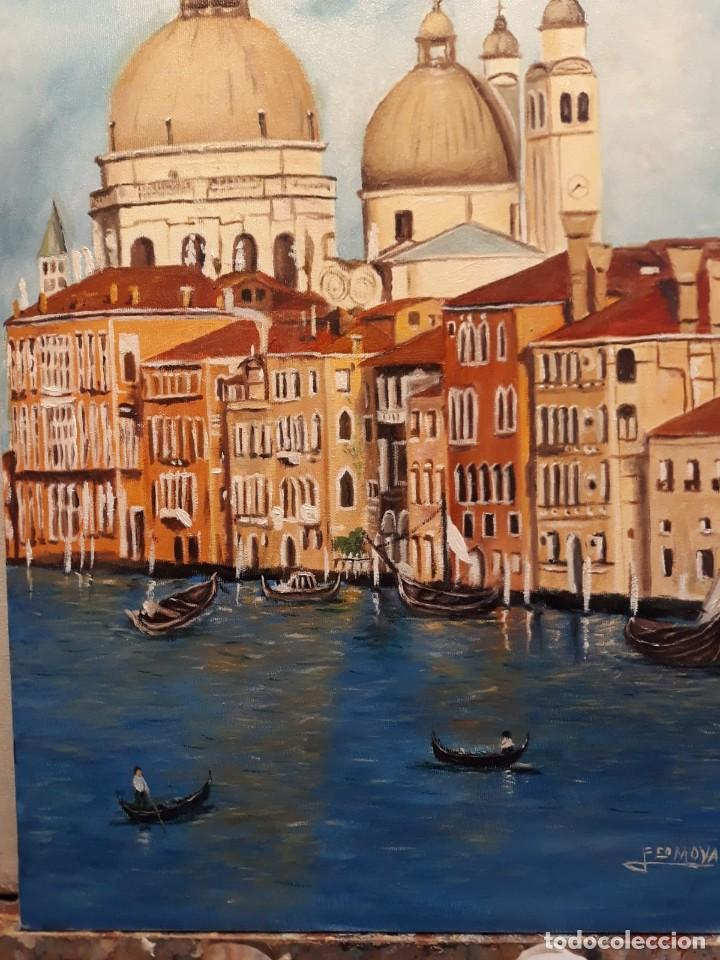Arte: VENECIANO I. EL GRAN CANAL. LIENZO 55X33. ELIGE MARCO GRATIS A TU GUSTO. - Foto 2 - 128590715