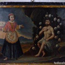 Arte: LAS TENTACIONES DE CRISTO-FINALES S. XVII PRINCIPIOS S.XVIII-MARCO DE EPOCA. Lote 128615319