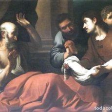 Arte: ORAZIO DE FERRARI, CÍRCULO. LOS HIJOS DE JACOB PRESENTAN A SU PADRE LA TÚNICA DE JOSÉ. Lote 128618031