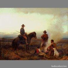 Arte: JOSEPH FAY (ALEMÁN 1813-1875). SIGLO XIX. ALREDEDOR DEL FUEGO/ AROUND THE CAMPFIRE. Lote 128636350