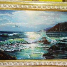 Arte: ATARDECER EN EL MAR.. Lote 128656451