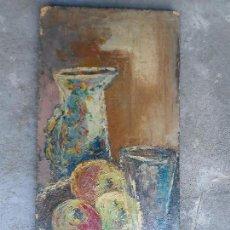 Arte: PINTURA SALAS CANO - SOBRE TABLERO - BODEGÓN. Lote 128665099