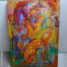 Arte: GRAN ÓLEO SOBRE TABLA DE RAMON BOTER.GRAN COLORIDO.. Lote 128675879