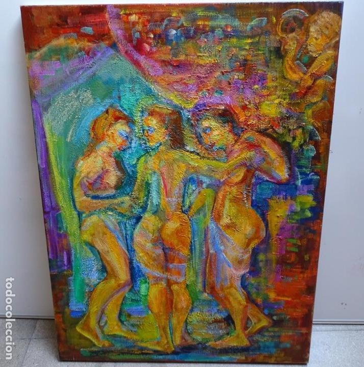 GRAN ÓLEO DE RAMON BOTER SOBRE TELA.MUCHO COLORIDO. (Arte - Pintura - Pintura al Óleo Contemporánea )
