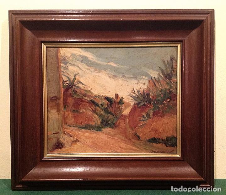 Arte: Antiguo cuadro óleo del pintor Enrique Segura Armengot Fecha 1941 - Foto 2 - 128686031