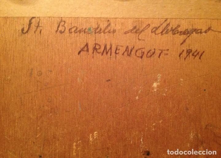 Arte: Antiguo cuadro óleo del pintor Enrique Segura Armengot Fecha 1941 - Foto 4 - 128686031