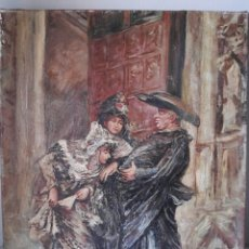 Arte: OLEO GOYESCO EL BESAMANOS AL SACERDOTE 62X50. Lote 128710043