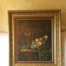 """Arte: ESPECTACULAR CUADRO, BODEGÓN DE GRAN TAMAÑO. FIRMADO """"ALONSO"""" EN LA BASE. Lote 128718055"""