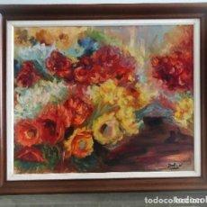 Arte: OPORTUNIDAD!!CUADRO AL OLEO FLORES. Lote 110634423
