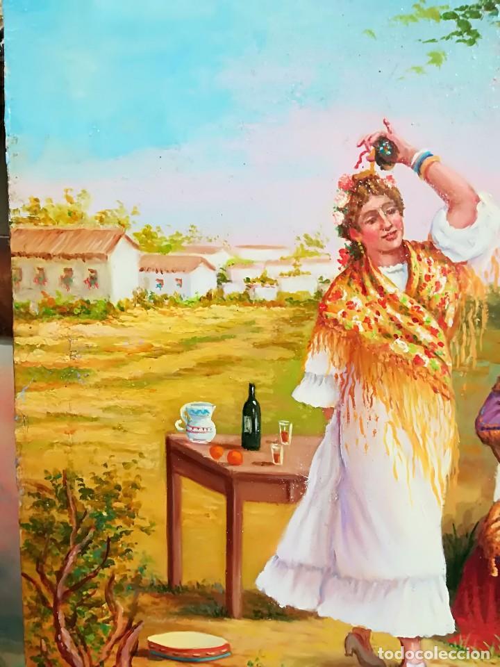 Arte: COSTUMBRISTA DE ARTISTA ANDALUZ - Foto 5 - 128751055
