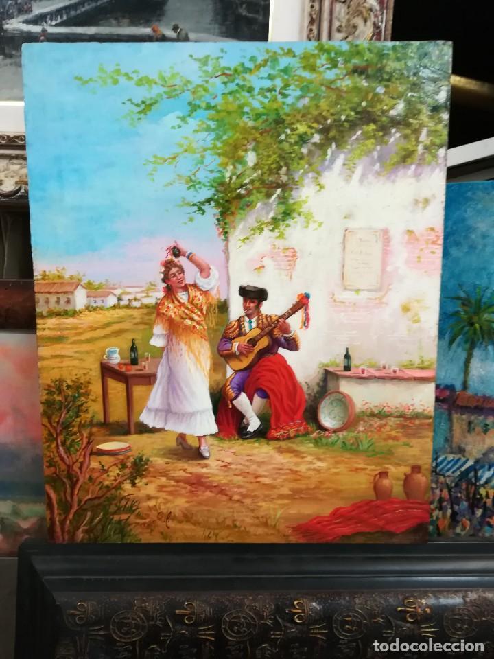 Arte: COSTUMBRISTA DE ARTISTA ANDALUZ - Foto 11 - 128751055
