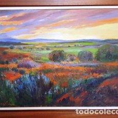 Arte: MAGNIFICO CUADRO DE JOSEP MARFA GUARRO - PINTURA - PAISATGE AMPORDA - AÑO 2000 -. Lote 128774123