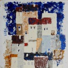 Arte: PRECIOSA PINTURA VINTAGE AÑOS 60, FIRMADA (ILEGIBLE).. Lote 128774928