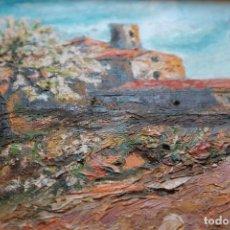 Arte: CASA DE CAMPO , OBRA OLEO SOBRE LIENZO, DEL PINTOR OLIVE. Lote 128821423