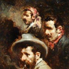 Arte: FRANCESC GIMENO ARASA (TORTOSA, 1858-BARCELONA, 1927) OLEO SOBRE TABLA. CERTIFICADO DE AUTENTICIDAD. Lote 94233570