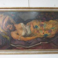Arte: BONITA PINTURA - ÓLEO SOBRE TELA - FIGURA FEMENINA - PERE CREIXANS I PICÓ ( BARCELONA 1893 - 1965). Lote 128945663