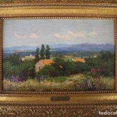 Arte: PINTURA AL OLEO SOBRE TABL=PINTOR JOSÉ LUPIAÑEZ DE MALAGA=MEDIDAS DE LA TABLA 28 X 18.5 .. Lote 128988415