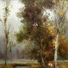 Arte: JOSEP COLOMER I COMAS (SANT FELIU DE PALLEROLS. GIRONA 1935 - 2003) OLEO SOBRE TELA. PAISAJE. Lote 129004203