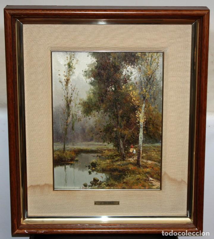 Arte: JOSEP COLOMER I COMAS (Sant Feliu de Pallerols. Girona 1935 - 2003) OLEO SOBRE TELA. PAISAJE - Foto 2 - 129004203