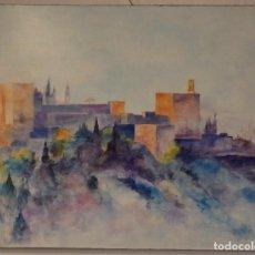 Arte: OLEO DE LA ALHAMBRA DE GRANDES DIMENSIONES. 120 CMS.. Lote 129011591