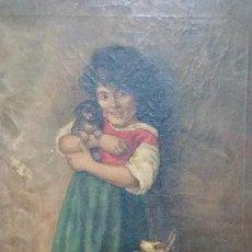 Arte: PINTURA RETRATISTA DEL PINTOR CALABIA DE 1918. Lote 130856112
