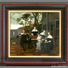 Arte: CÍRCULO DE LUDOLF DE JONG (HOLANDÉS) SIGLO XVII. RETRATO DE FAMILIA NOBLE. ÓLEO SOBRE LIENZO.. Lote 129221520