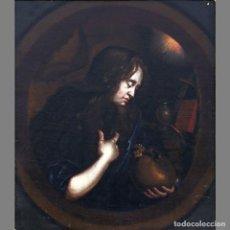 Arte: SEGUIDOR DE GODFRIED SCHALKEN (SIGLO XVIII) LA MAGDALENA PENITENTE/THE PENITENT MAGDELEN. ÓLEO SOBRE. Lote 129221540