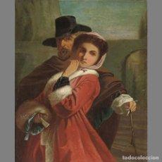 Arte: JOHN 'SPANISH' PHILLIP, R. A. (BRITÁNICO, 1817-1875) LA ASIGNACIÓN/THE ASSIGNATION. ÓLEO SOBRE LIENZ. Lote 129221544