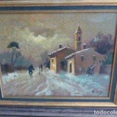 Arte: OLEO SOBRE LIENZO. ENMARCADO. PAISAJE RURAL. FIRMA SIN IDENTIFICAR. 45 X 36 CM. Lote 129236559