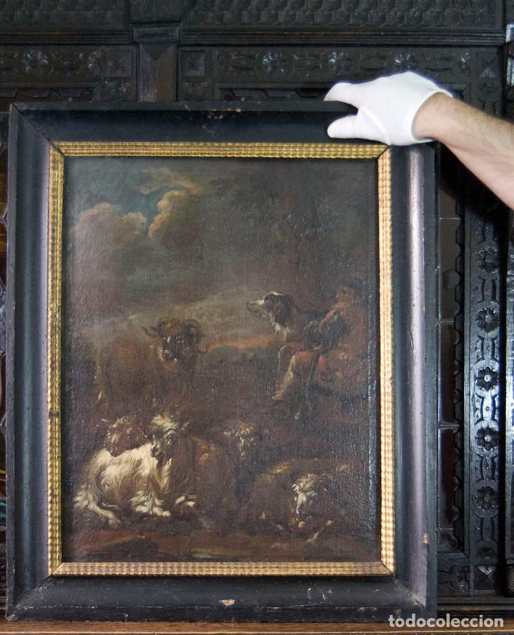 "Arte: Atribuido a ""Rosa de Tivoli"" Roos, Philipp Peter. paisaje con ganado - Foto 2 - 63278564"