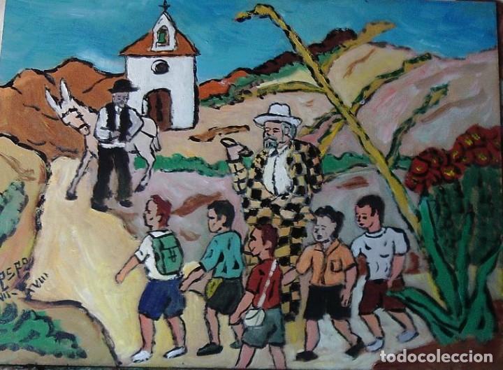 PLATERO Y YO.-LIPIANI.-ÓLEO SOBRE MADERA DE 30X40 CM. AUTOR CRESPO (Arte - Pintura Directa del Autor)