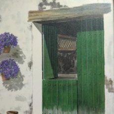 Arte - CUADRO OLEO SOBRE TABLA FIRMADO ANTIGUO CON IMPORTANTE MARCO TALLADO - 129340179