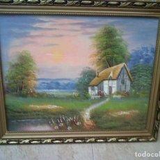 Arte: BONIC PAISATGE AMB CASA - 49 X 39 CM. Lote 129352539