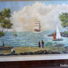 Arte: OLEO - MARINA - RUBIA 1997 - CENTELLES .. Lote 129409927