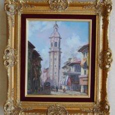 Arte: PINTURA ORIGINAL - TORRE DE SANTA CATALINA, VALENCIA - 1850'S. Lote 129462951