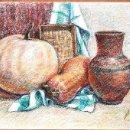 Arte: NATURALEZA MUERTA CON CALABAZA. Lote 129501235