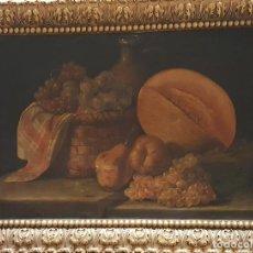 Arte: ESCUELA ESPAÑOLA, A LA MANERA DE MELÉNDEZ. SIGLO XIX. PAREJA DE BODEGONES. ÓLEO SOBRE LIENZO.. Lote 129513659