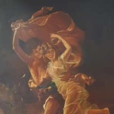 Arte: JOSÉ MARÍA MENACHO (SEVILLA). PAREJA DE JÓVENES CORRIENDO. ÓLEO SOBRE LIENZO.. Lote 129513663
