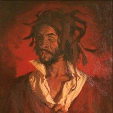 Arte: MANUEL MONEDERO (SEVILLA 1925-2002). EL LOCO. ÓLEO SOBRE LIENZO.. Lote 129513783