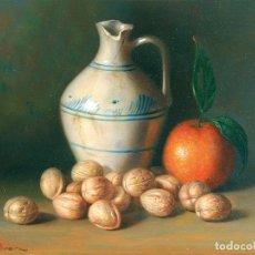 Arte: MANUEL PEREIRA (SEVILLA, 1949-). NUECES. ÓLEO SOBRE TABLA.. Lote 129513831