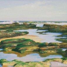 Arte: JOSÉ GARCÍA TORIBIO (SEVILLA, 1933-). BAJAMAR EN LOS CORRALES, CAÑOS DE MECA. ÓLEO SOBRE LIENZO.. Lote 129513839