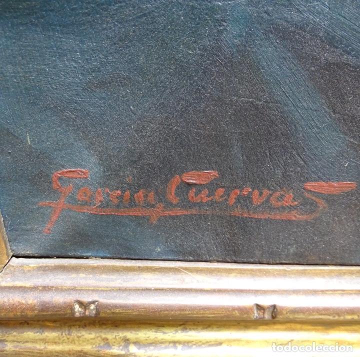 Arte: Gran óleo de García cuervas.buen trazo.jarron de flores. - Foto 8 - 129540683