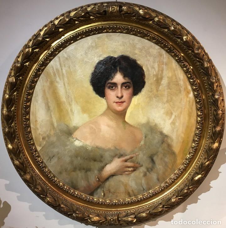 GIACOMO GROSSO (1860-1938) PINTOR ITALIANO - ÓLEO SOBRE TELA - RETRATO (Arte - Pintura - Pintura al Óleo Moderna sin fecha definida)