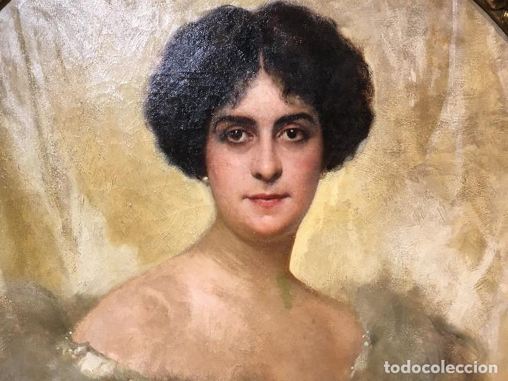 Arte: Giacomo Grosso (1860-1938) Pintor Italiano - Óleo sobre tela - Retrato - Foto 2 - 129555187